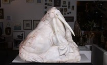 Soap Stone Carving of Walrus